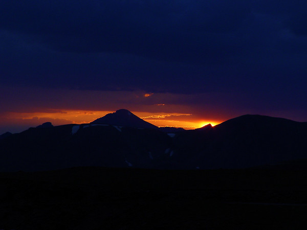 DSC04999a Sunset, Trail Ridge Road, 12000 feet