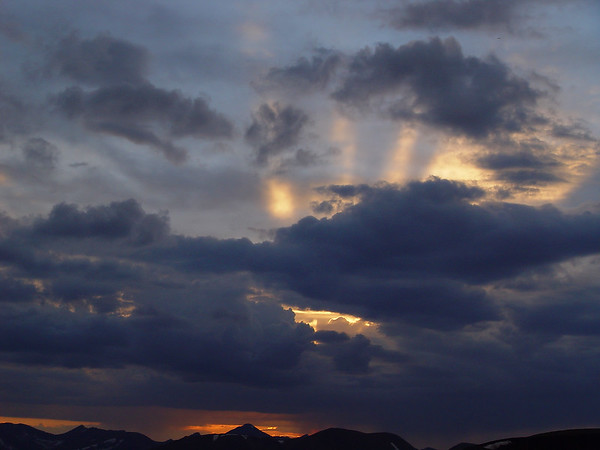 DSC05004a Sunset, Trail Ridge Road, 12000 feet