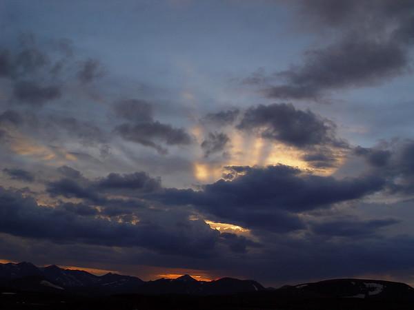 DSC05000a Sunset, Trail Ridge Road, 12000 feet