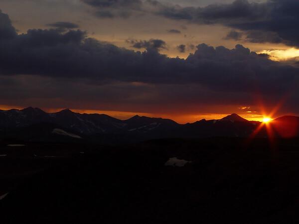DSC04996a Sunset, Trail Ridge Road, 12000 feet