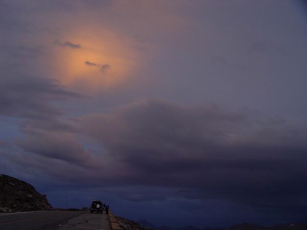 DSC05005a Sunset, Trail Ridge Road, 12000 feet
