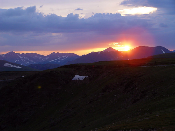 DSC04995a Sunset, Trail Ridge Road, 12000 feet