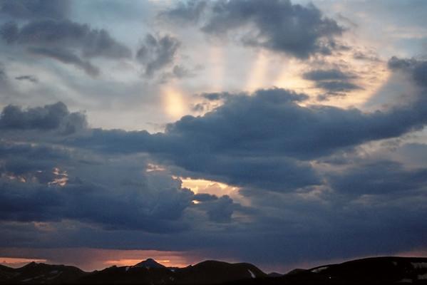 006_06a Sunset, Trail Ridge Road, 12000 feet<br /> <br /> Nikon N-65 35mm Kodak Pro 400ASA