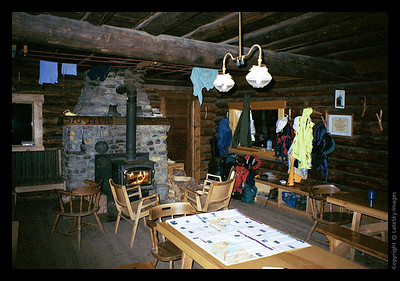 Inside Stanley Mitchell Hut