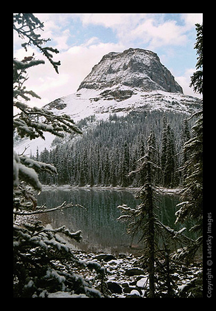 Yoho Lake Snowy Sunrise