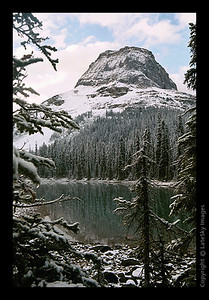 Yoho Lake Snowy Sunrise