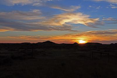 Montana prairie sunset