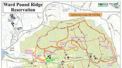 Leatherman's Loop Full 10k Course Map (approximate for the unmarked/unblazed trails - bring a guide if you want to follow the full course!)