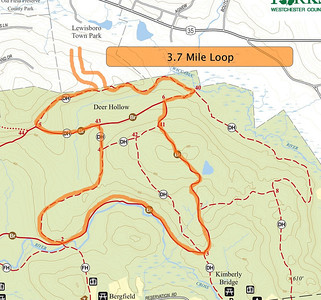 3.7 Mile Loop from Lewisboro Town Park including some of the Leatherman's Loop trails.