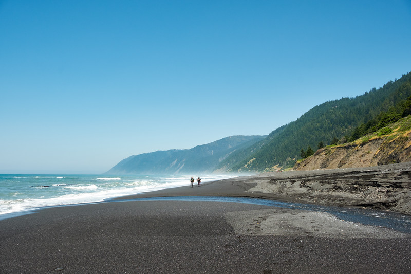 Finishing the Lost Coast Trail at Black Sands Beach, approaching Shelter Cove