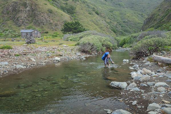 Crossing Fourmile Creek at Punta Gorda.