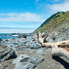 Some of the obstacles along the Lost Coast Trail beach, this near Sea Lion Gulch