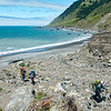 Climbing a bluff from the beach avoids a very rocky, narrow beach section nearly inaccessible, even during low tide