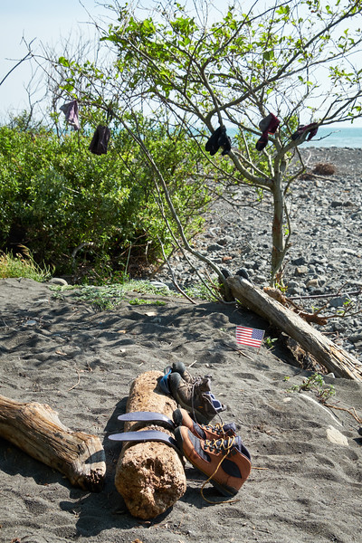 It's inevitable that at some point you'll have to dry off your boots when hiking along the ocean