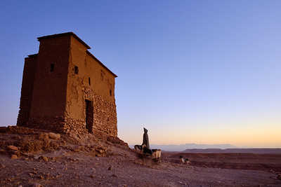 Remains of the old Kasbah Ben Haddou, a UNESCO World Heritage Site.