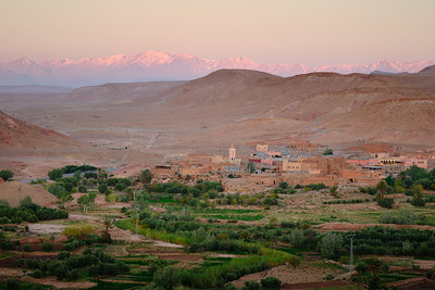 Early morning at the village of Assfalou, from Kasbah Ben Haddou.
