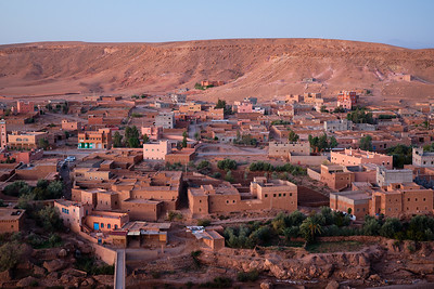 Early morning at Ait Ben Haddou, Morocco.