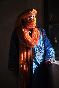 Window portrait in the Telouet Kasbah, Morocco.