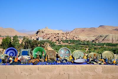 A roadside market outside of Ait Ben Haddou.