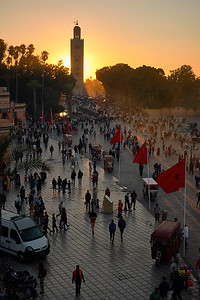 Entering Jemma el-Fnaa, the main market and square in Marrakech.
