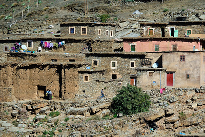 One of the hillside villages we passed in the Atlas Mountains of Morocco.