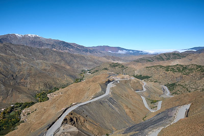 Tichga, the highest pass in Africa, in the High Atlas Mountains of Morocco.