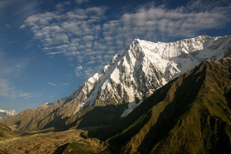 Nanga Parpbat's Rupal face rises above the Tarashing glacier