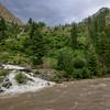 Two rivers meet near Tarashing, Gilgit Balstian