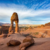 Early morning shadow at Delicate Arch, Arches National Park
