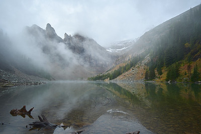 Fog over Lake Agnes, Banff National Park