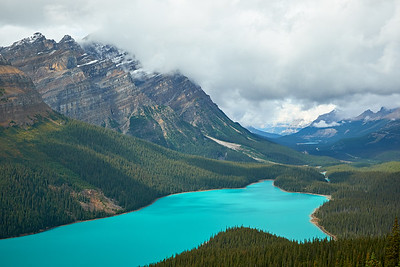 Clouds over Peyto Lake, Banff National Park
