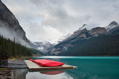 Early morning clouds at Lake Louise, Banff National Park