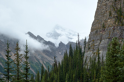 View from the hiking trail to Lake Agnes, Banff National Park