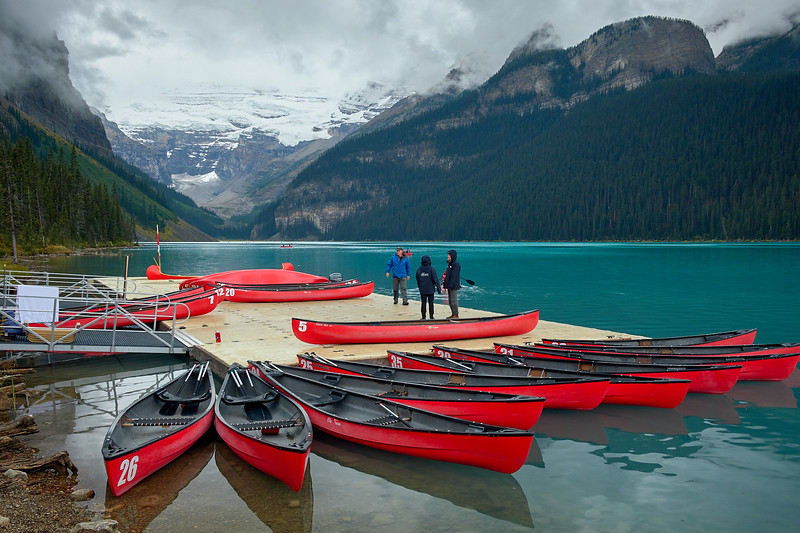 The canoe rental shop at Lake Louise, Banff National Park