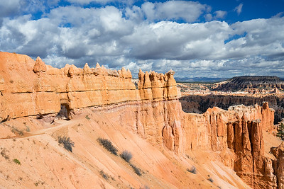 One of the tunnels in the Peekaboo Loop Trail, Bryce Canyon National Park