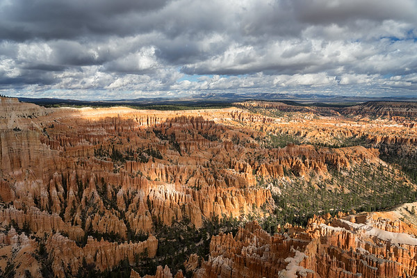 Shadows on the hoodoos from Bryce Point