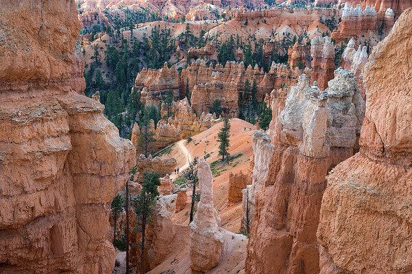 Looking down on the Queens Garden Trail, Bryce Canyon National Park