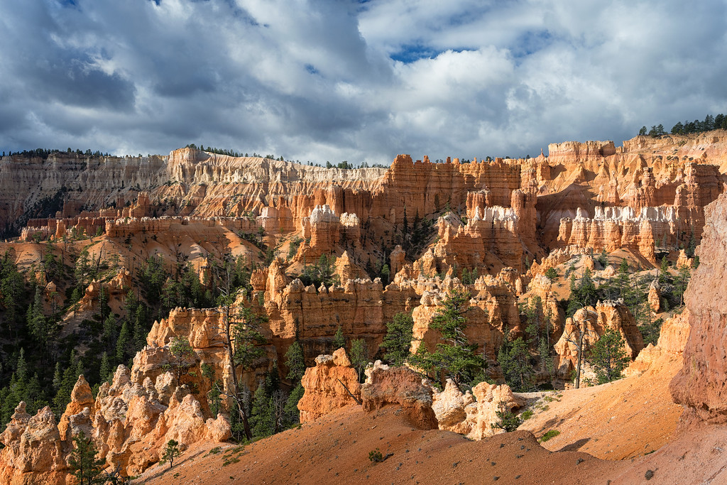 View of the hoodoos from the Queens Garden Trail, Bryce Canyon National Park