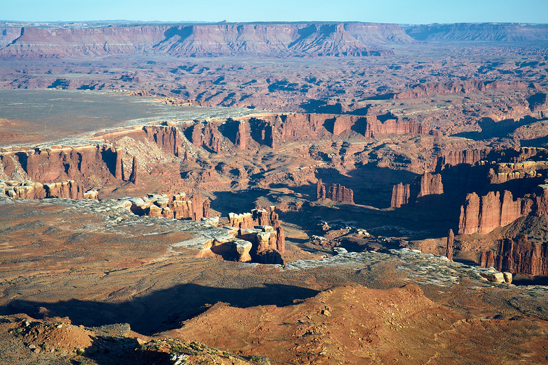 Looking south from Grand View Point, Canyonlands National Park.