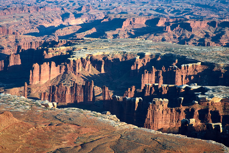 The White Rim from Grand View Point, Canyonlands National Park.