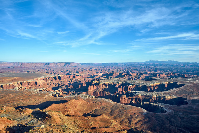 The confluence of the Green and Colorado Rivers from Grand View Point, Canyonlands National Park.
