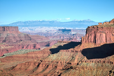 The La Sal Mountains viewed from Canyonlands National Park