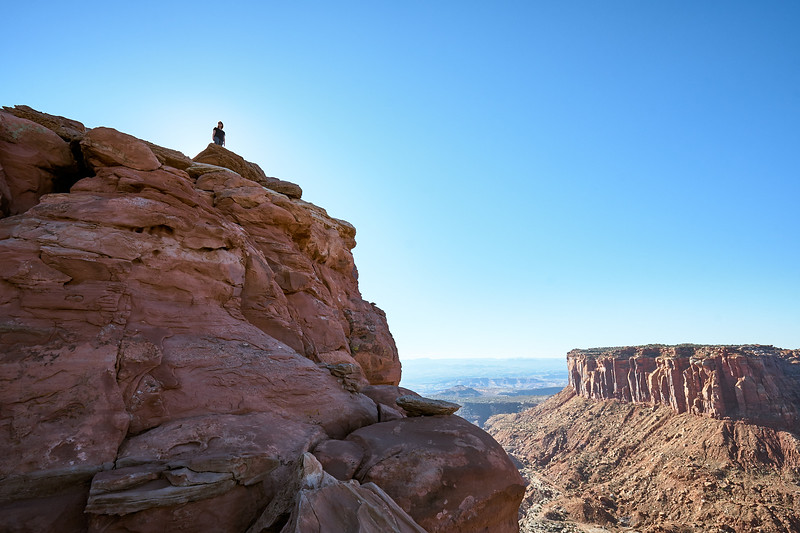 End of the Grand View Trail, Island in the Sky District, Canyonlands National Park.