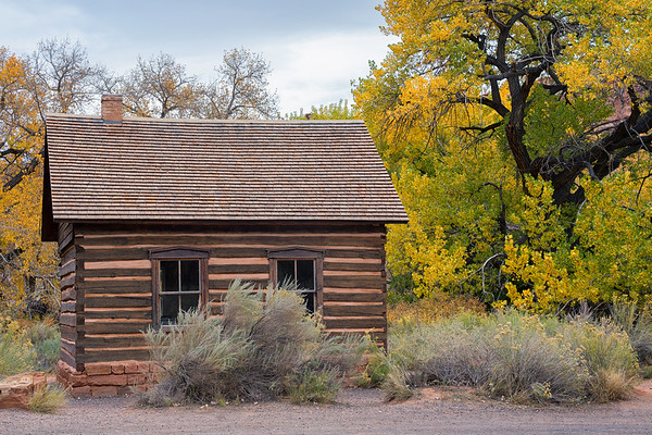 The old Fruita Schoolhouse in Capitol Reef National Park