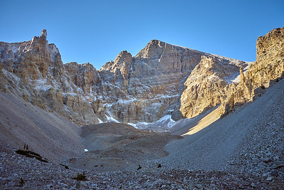 The glacier at Wheeler Peak is the only one in Nevada and one of the southernmost in the U.S.
