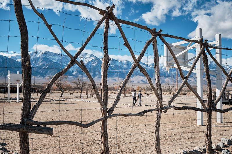 The basketball court at Manzanar National Historic Site provided one way of recreation and fitness for the internees