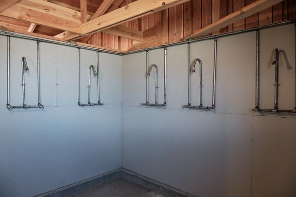 Communal showers at Manzanar National Historic Site