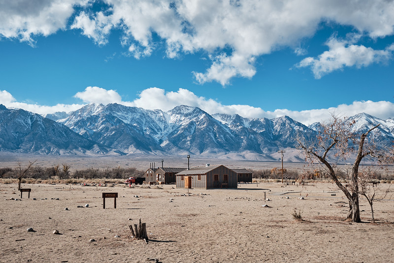Site of the barracks at Manzanar National Historic Site