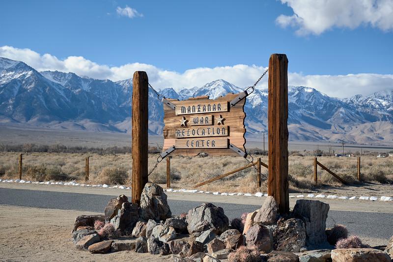 The historic entrance at Manzanar National Historic Site