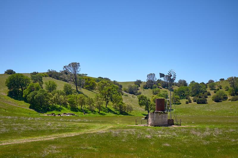 Farmland just outside of Pinnacles National Park